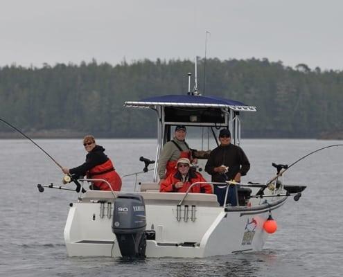 friends enjoying west sport fishing