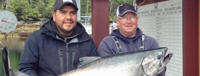Prizewinning Salmon at King Pacific Lodge